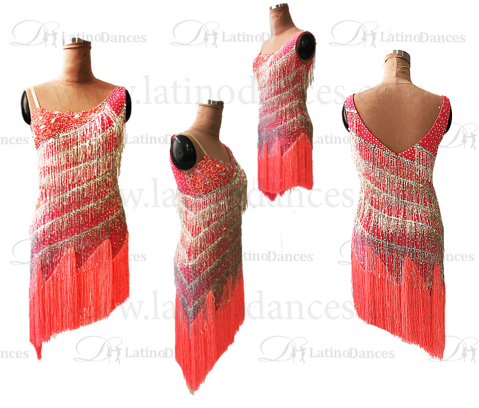 LATINO DANCE DRESS COMPETITION WITH HIGH QUALITY STONE M402B