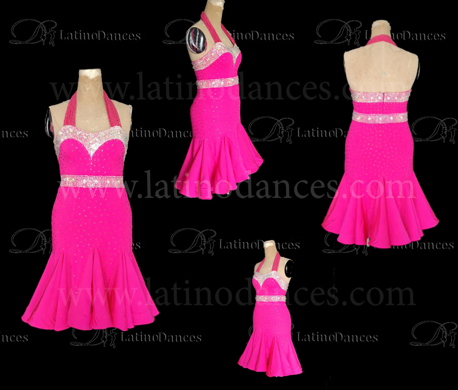 LATINO DANCE DRESS COMPETITION WITH HIGH QUALITY STONE M486