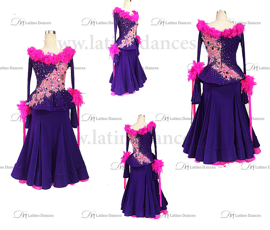 STANDARD/SMOOTH/BALLROOM DRESS WITH HIGH QUALITY ST330