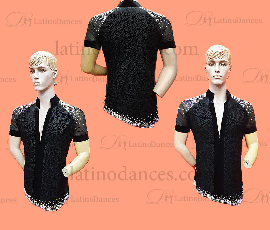 MEN'S LATIN SHIRT WITH HIGH QUALITY STONES DB216