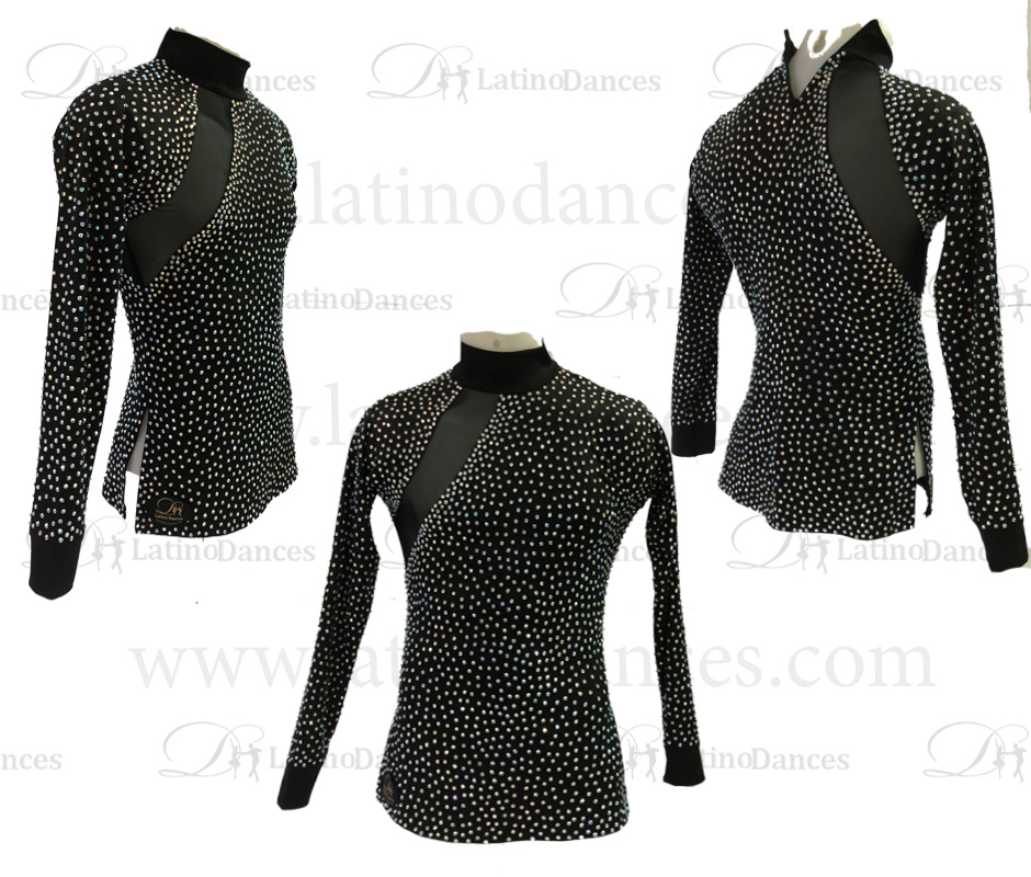 MEN'S LATIN SHIRT / BODY WITH HIGH QUALITY STONES DB199