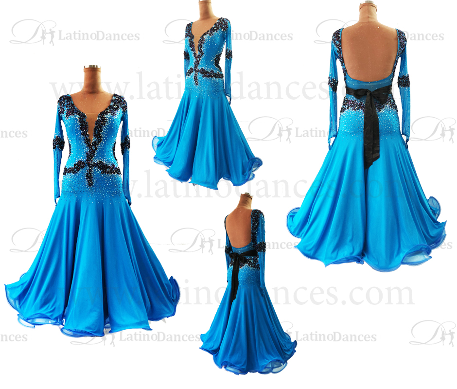 BALLROOM/STANDARD/SMOOTH DRESS WITH HIGH QUALITY STONES ST316