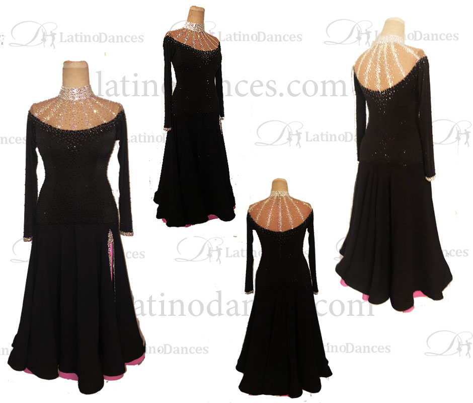 STANDARD/ SMOOTH/ BALLROOM DRESS WITH HIGH QUALITY ST358