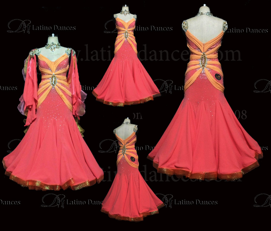 Ballroom Competition Smooth Dance Tailored Dress With High Quality stones ST227