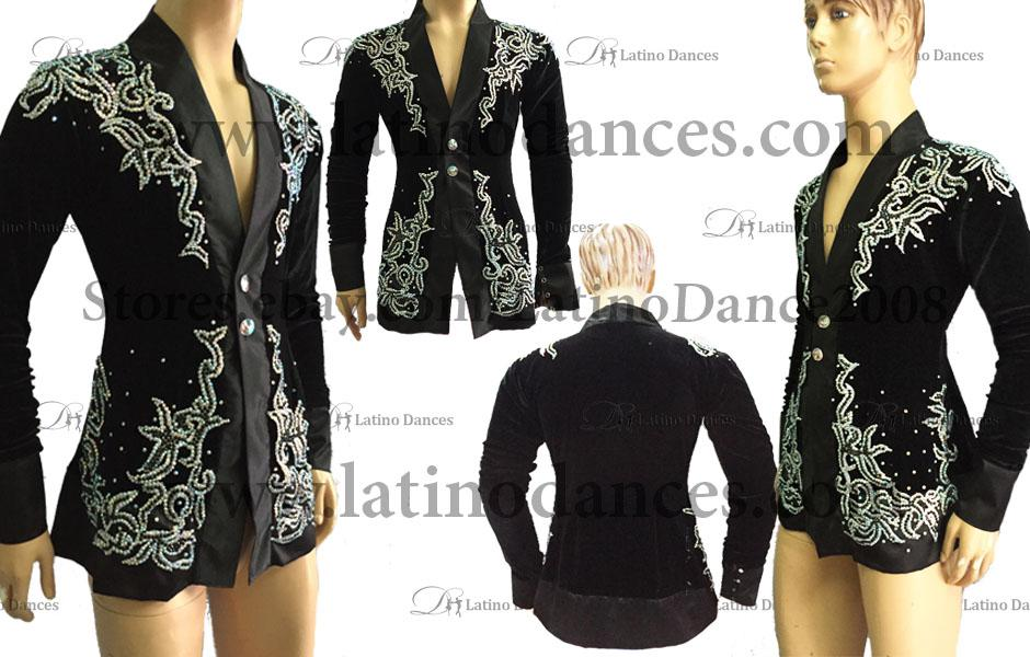 LATIN JACKET/VEST  FOR DANCING WITH HIGH QUALITY STONES DB108
