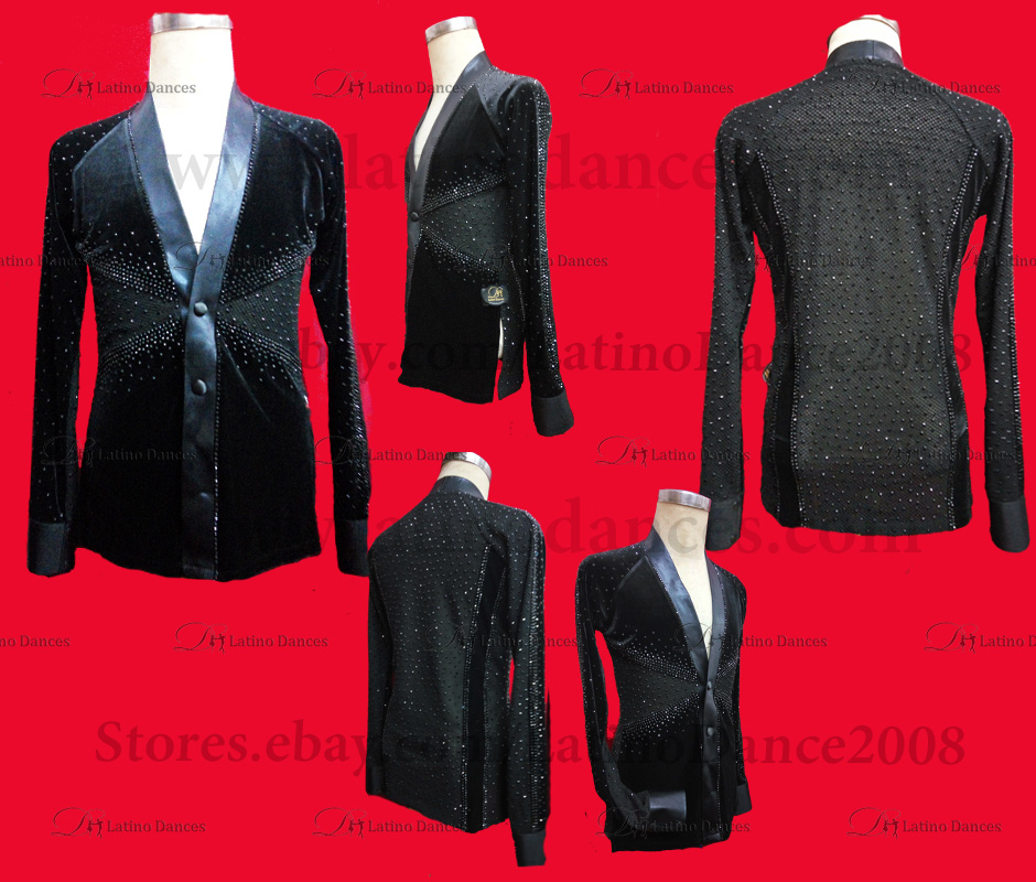 MEN'S LATIN VEST/COAT/ BODY. DB 176