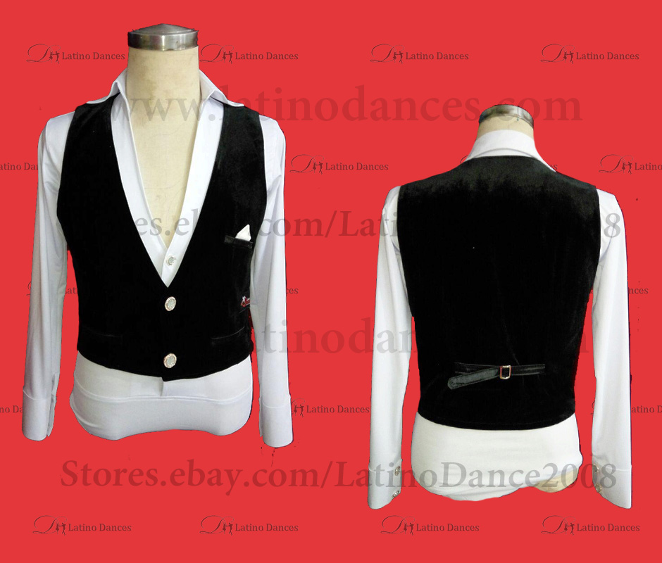 MEN'S LATIN VEST/COAT/ BODY. DB 179