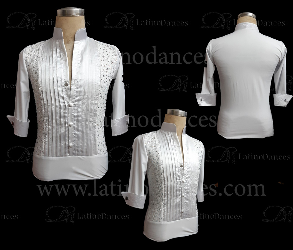 MEN'S LATIN SHIRT / BODY WITH HIGH QUALITY STONES DB120