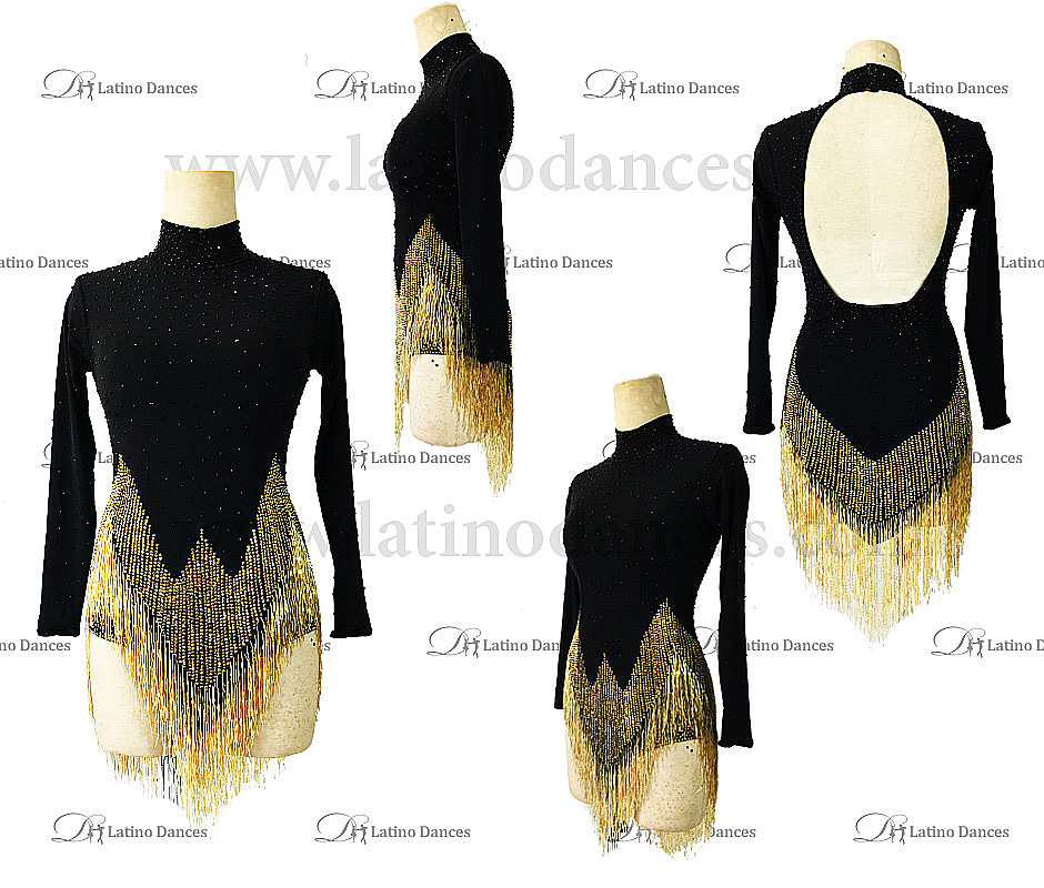 LATIN RHYTHM DRESS WITH HIGH-QUALITY STONES M647