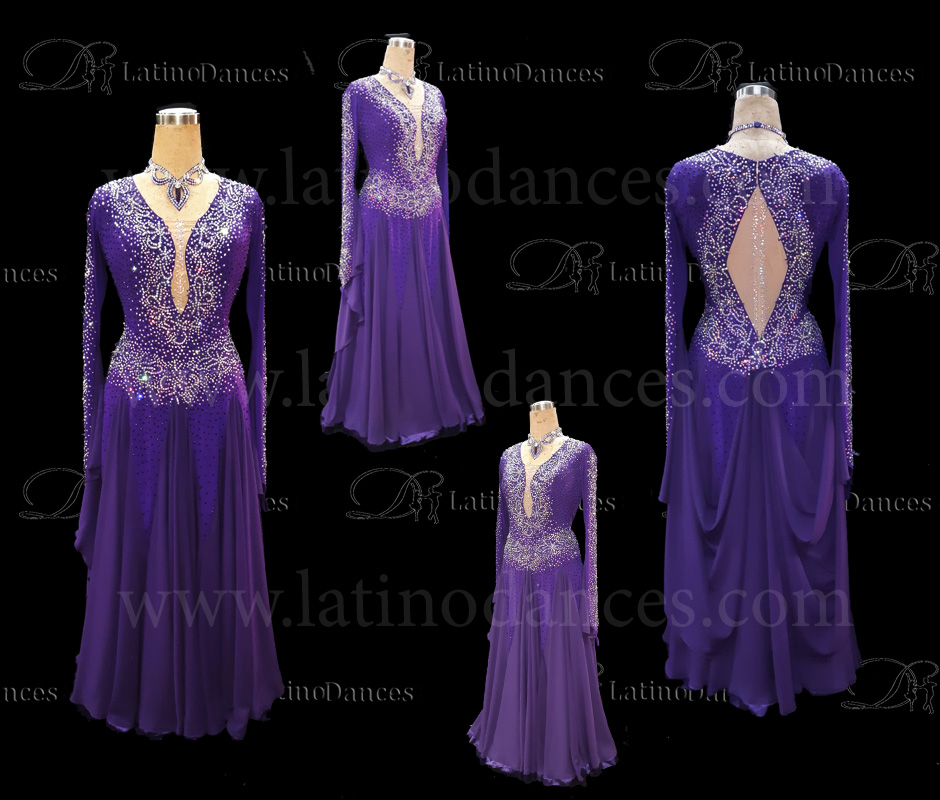 Ballroom Competition Smooth Dance Tailored Dress With High Quality stones ST255B