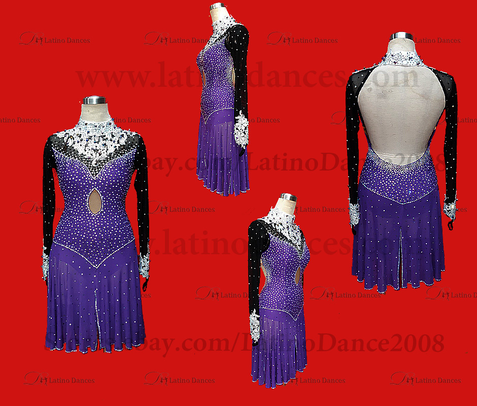 LATIN RHYTHM DRESS WITH HIGH-QUALITY STONES M568B