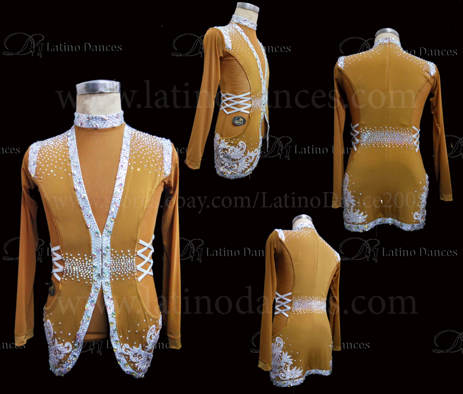 MEN'S LATIN VEST/COAT/ BODY. DB 167