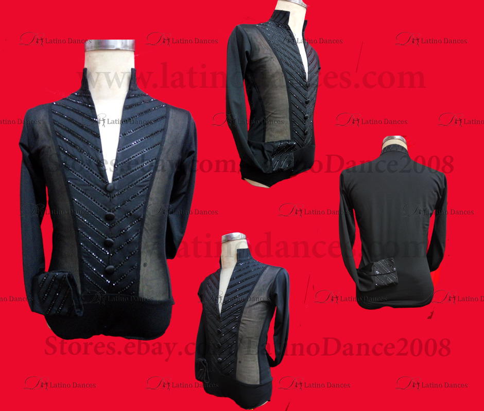 MEN'S LATIN VEST/COAT/ BODY. DB 172