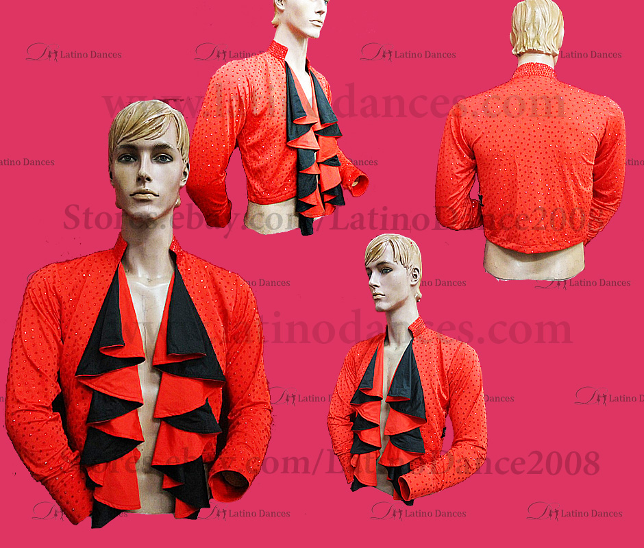 MEN'S LATIN VEST/COAT/ BODY. DB 187
