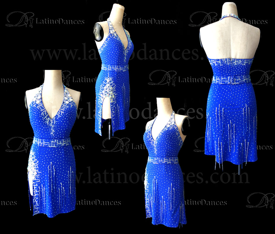 LATIN RHYTHM DRESS WITH HIGH-QUALITY STONES M674