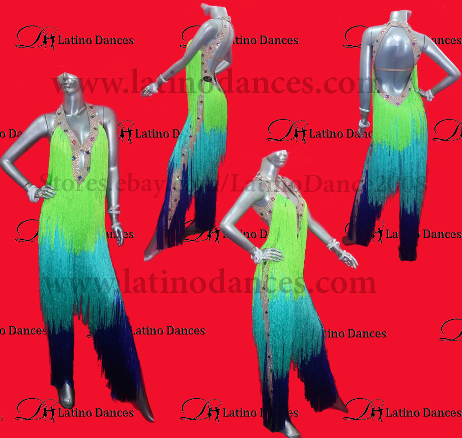 JUMPSUITS LATIN SALSA  WITH HIGH QUALITY STONES J6