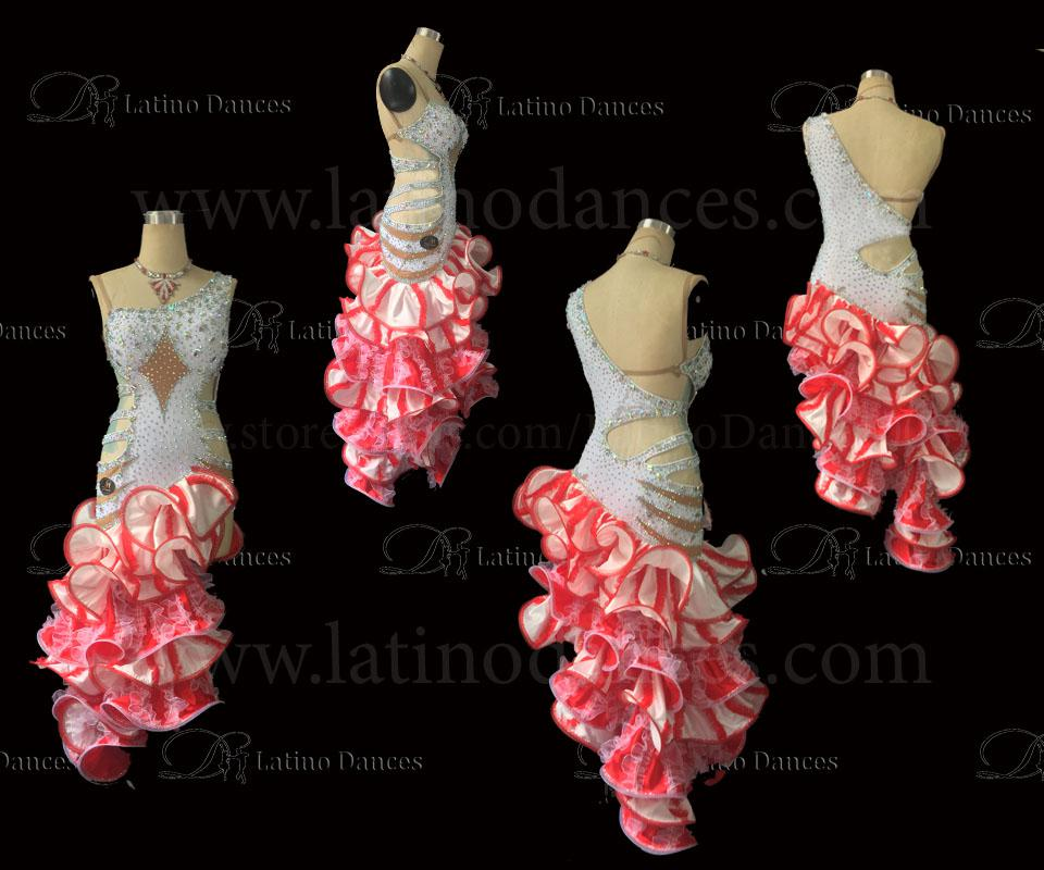 LATIN BALLROOM / STANDARD COMPETITION  DRESS WITH HIGH QUALITY STONES M100B