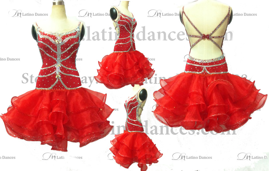 LATINO DANCE DRESS COMPETITION WITH HIGH QUALITY STONE M141A