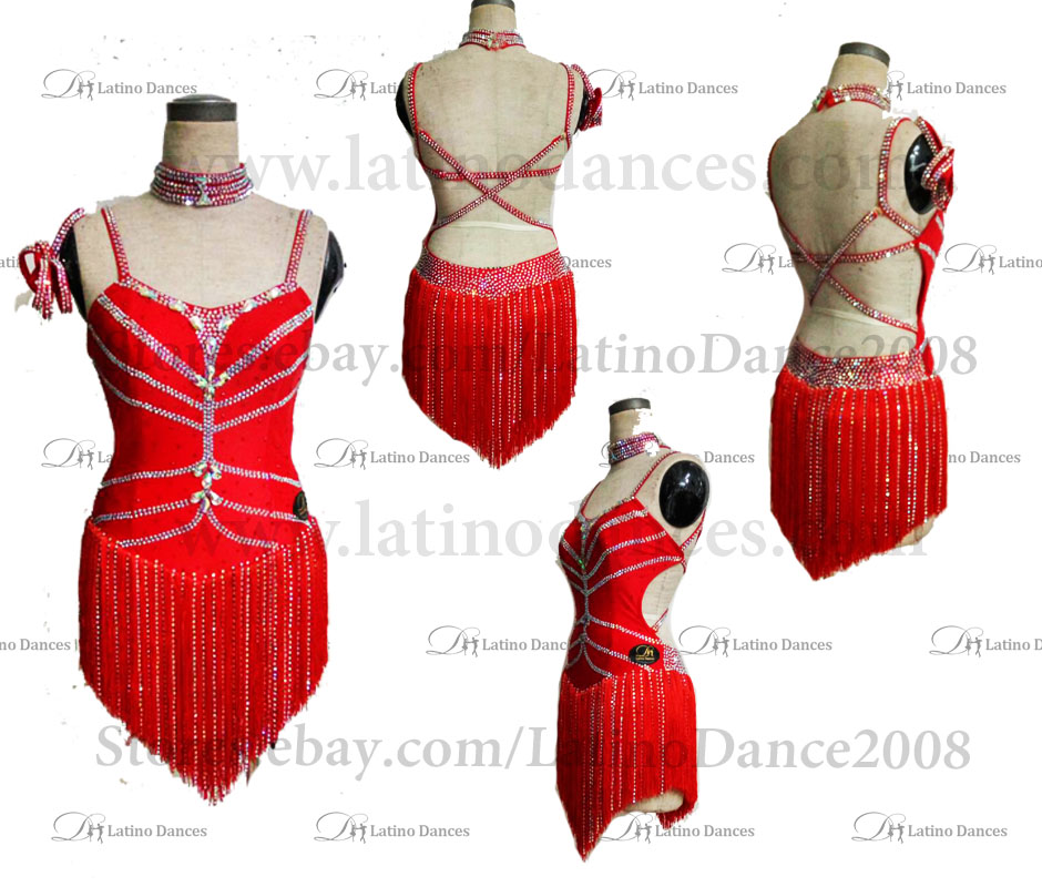 LATINO DANCE DRESS COMPETITION WITH HIGH QUALITY STONE M141B