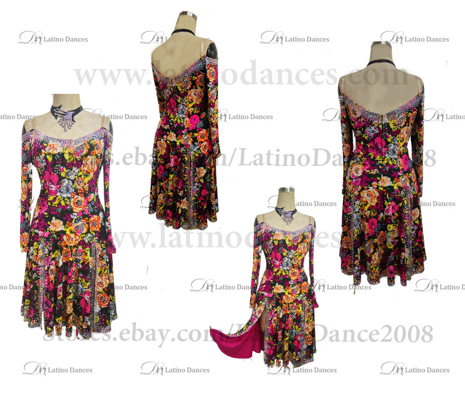 LATIN DRESS WITH HIGH QUALITY STONES M143B