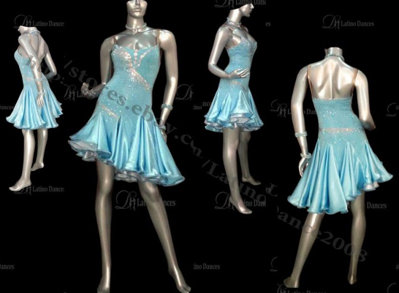 LATIN BALLROOM / STANDARD DRESS WITH HIGH QUALITY STONES M193