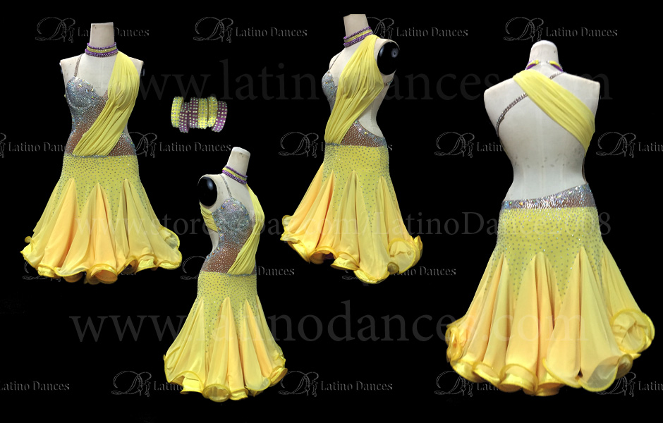 LATIN DRESS WITH HIGH QUALITY STONES M199C