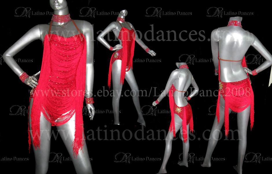 LATINO DANCE DRESS COMPETITION WITH HIGH QUALITY STONE  M212A