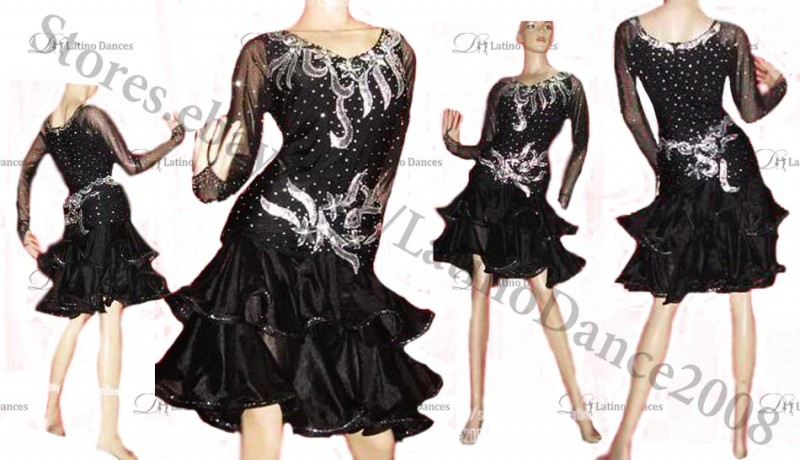 LATIN BALLROOM / STANDARD DRESS WITH HIGH QUALITY STONES M23