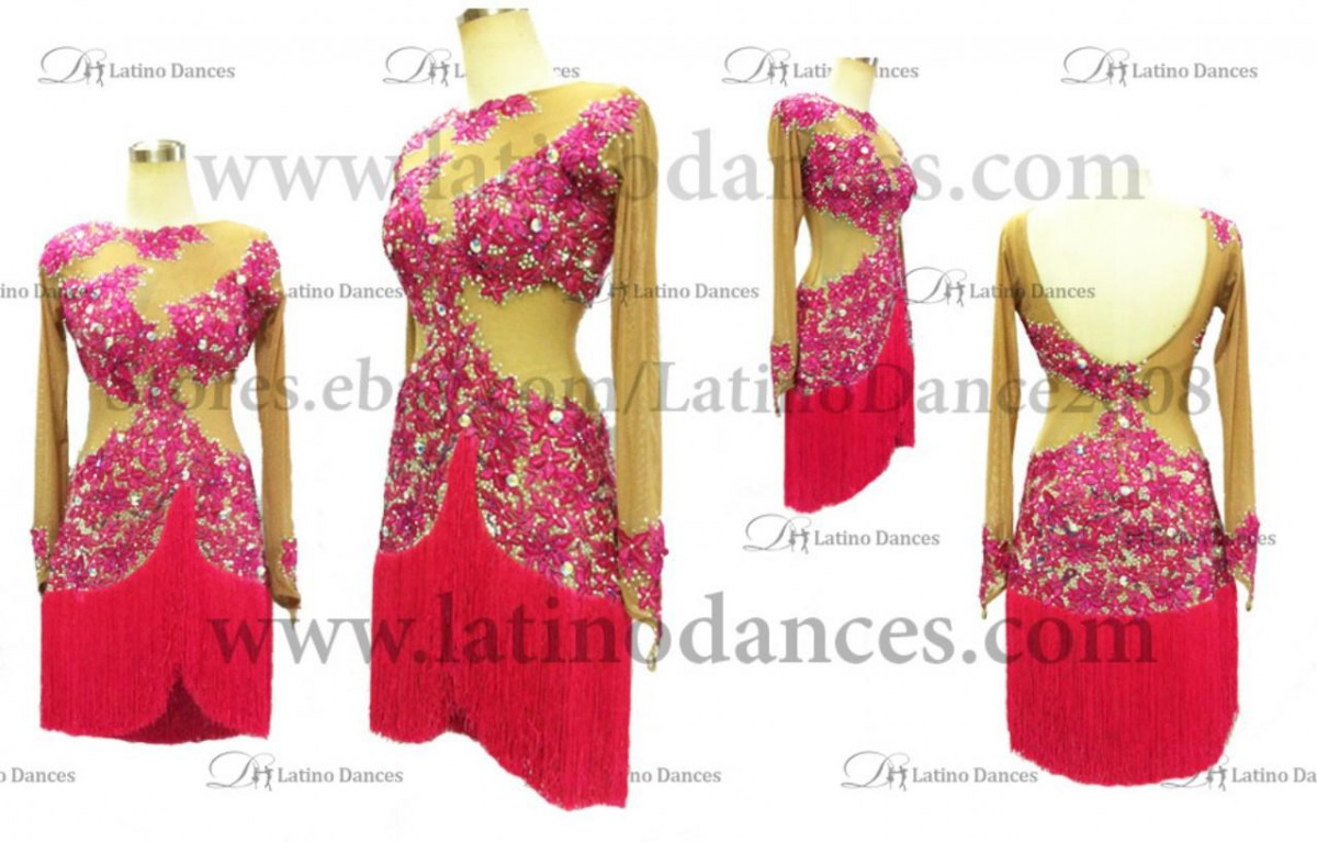 LATINO DANCE DRESS COMPETITION WITH HIGH QUALITY STONE M254A