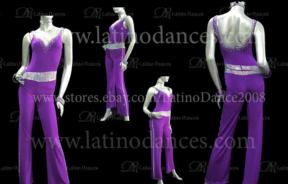 JUMPSUITS LATIN SALSA  WITH HIGH QUALITY STONES M318A-J8A