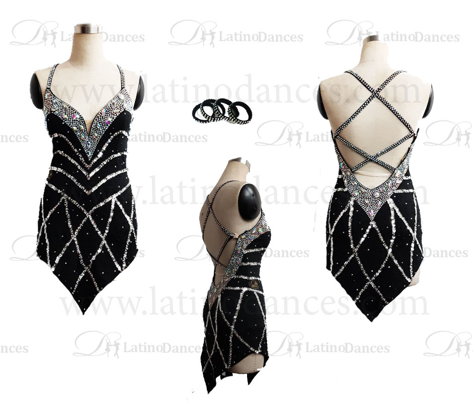 LATINO DANCE DRESS COMPETITION WITH HIGH QUALITY STONE M338B
