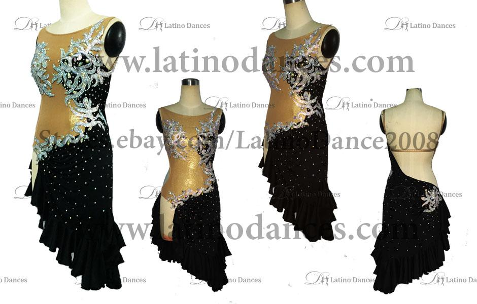 LATINO DANCE DRESS COMPETITION WITH HIGH QUALITY STONE M386