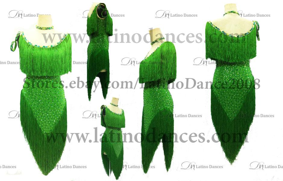 LATINO DANCE DRESS COMPETITION WITH HIGH QUALITY STONE M387