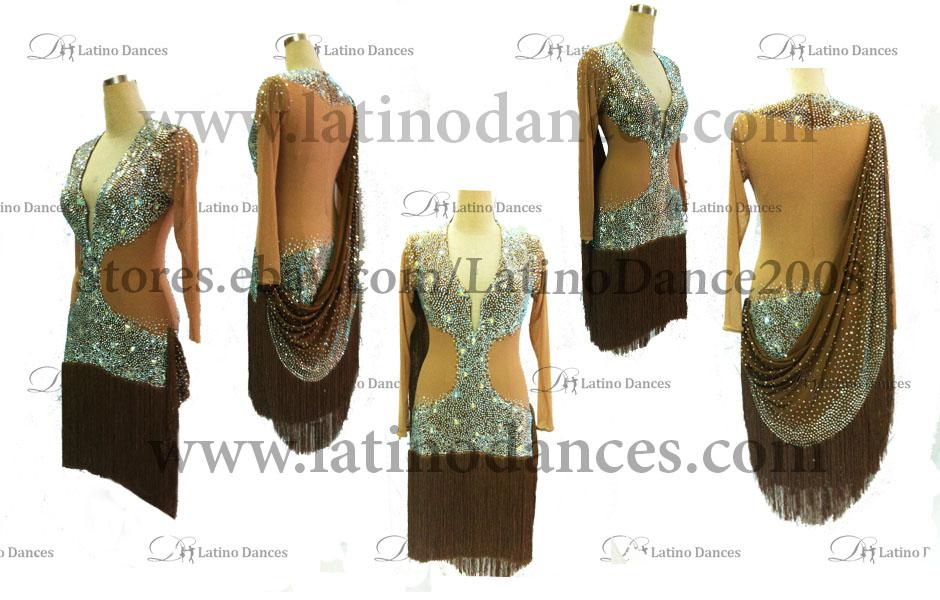 LATINO DANCE DRESS COMPETITION WITH HIGH QUALITY STONE M388