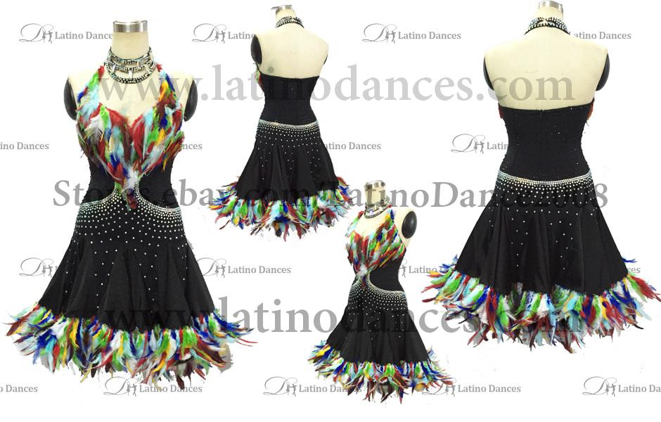 LATINO DANCE DRESS COMPETITION WITH HIGH QUALITY STONE M391
