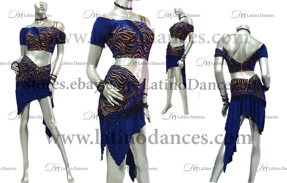 LATINO DANCE DRESS COMPETITION WITH HIGH QUALITY STONE M392