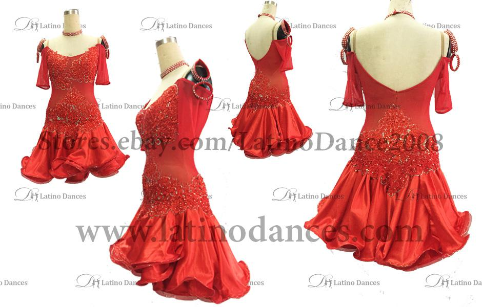 LATINO DANCE DRESS COMPETITION WITH HIGH QUALITY STONE M393