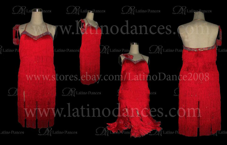 LATINO DANCE DRESS COMPETITION WITH HIGH QUALITY STONE M394