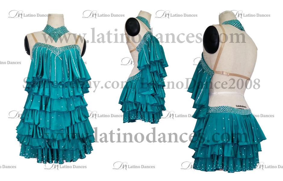 LATINO DANCE DRESS COMPETITION WITH HIGH QUALITY STONE M395
