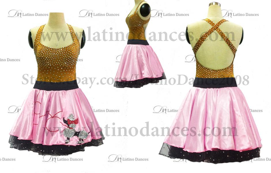 LATINO DANCE DRESS COMPETITION WITH HIGH QUALITY STONE M396