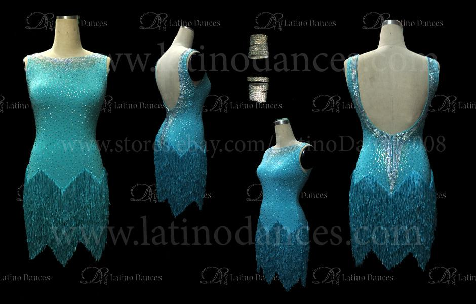 LATINO DANCE DRESS COMPETITION WITH HIGH QUALITY STONE M398