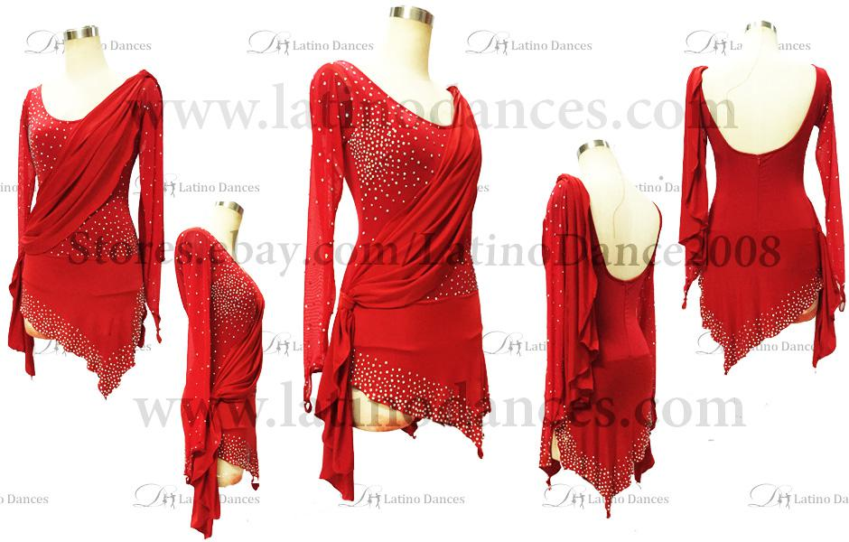 LATINO DANCE DRESS COMPETITION WITH HIGH QUALITY STONE M399