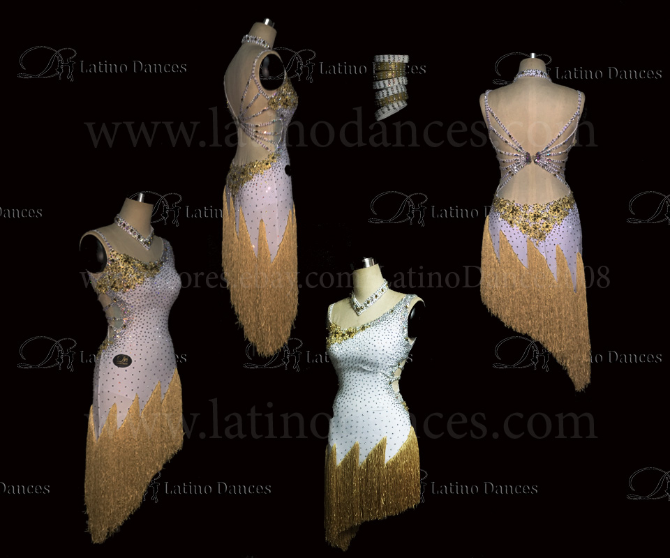 LATINO DANCE DRESS COMPETITION WITH HIGH QUALITY STONE M400