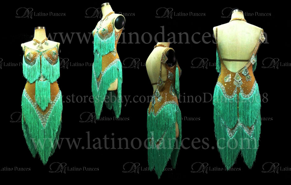 LATINO DANCE DRESS COMPETITION WITH HIGH QUALITY STONE M403