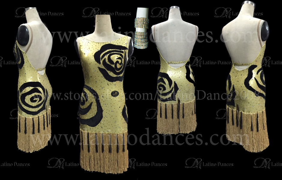 LATINO DANCE DRESS COMPETITION WITH HIGH QUALITY STONE M404
