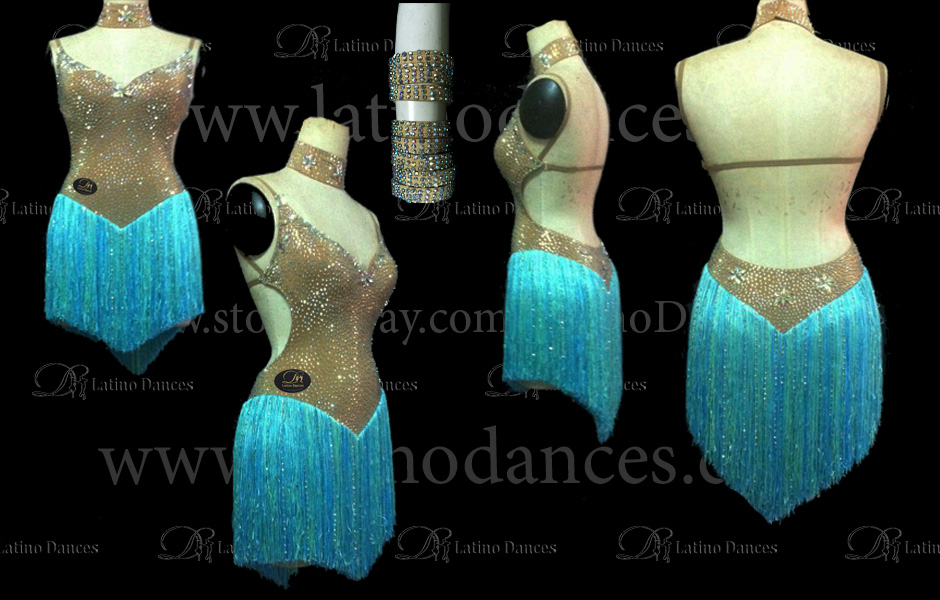 LATINO DANCE DRESS COMPETITION WITH HIGH QUALITY STONE M406