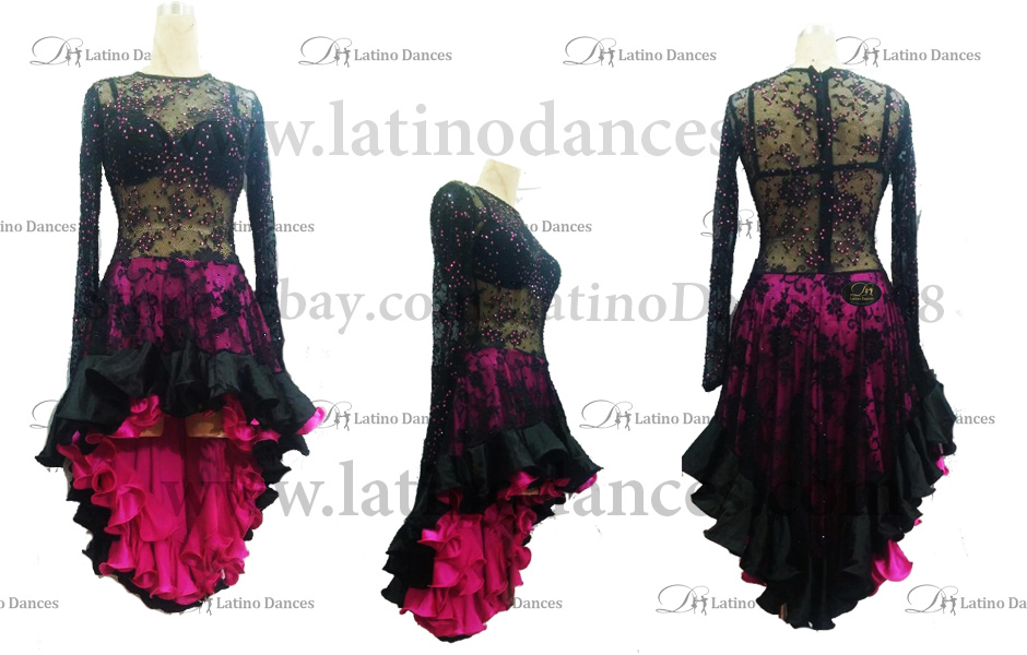 LATINO DANCE DRESS COMPETITION WITH HIGH QUALITY STONE M407