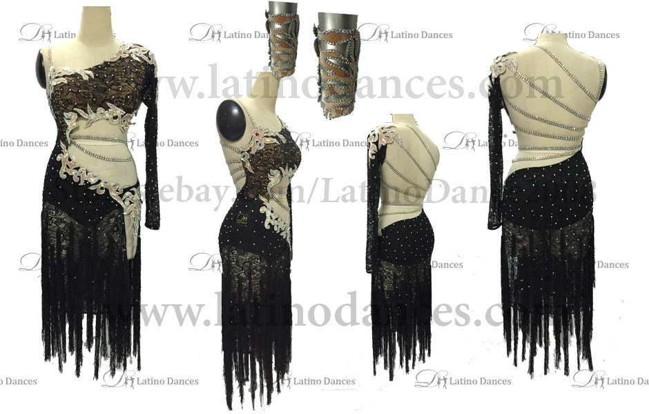 LATINO DANCE DRESS COMPETITION WITH HIGH QUALITY STONE M408