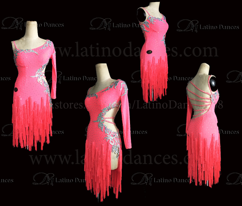 LATINO DANCE DRESS COMPETITION WITH HIGH QUALITY STONE M408A