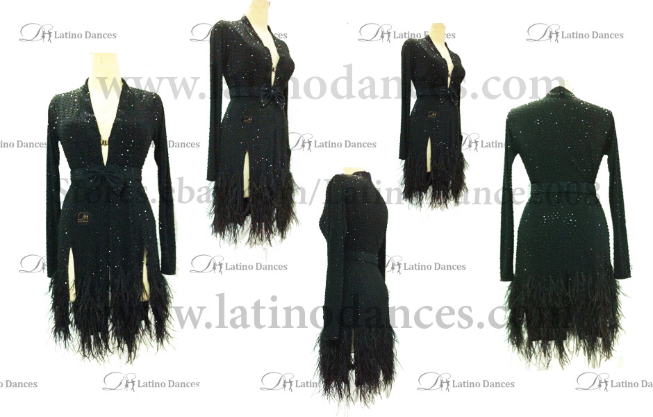 LATINO DANCE DRESS COMPETITION WITH HIGH QUALITY STONE M409